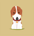 jack russell puppy character cute terrier vector image vector image