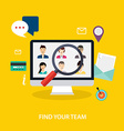 Job search and career Human resources management vector image vector image