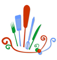 kitchen symbol vector image vector image