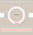 lacy round frame and borders vintage vector image