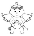 little cupid character card vector image vector image