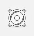 loud speaker outline icon or design element vector image