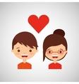 loving couple design vector image