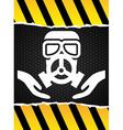mask gas design vector image