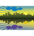 Morning City Landscape vector image vector image