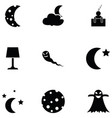 night icon set vector image