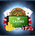 online casino concept vector image vector image