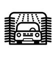 passenger car at automatic car wash station vector image vector image