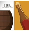 premium quality cold beer vector image