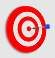 realistic target 3d vector image vector image
