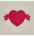 Red heart cut in the cardboard vector image