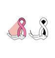ribbon as a symbol of breast cancer vector image vector image