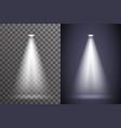 scene spotlight illumination light ray bright vector image vector image