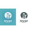 service logo or label construction repair vector image vector image