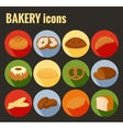 set colored bakery icons vector image
