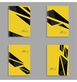 Set covers for magazine of black stripes vector image vector image