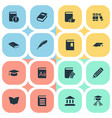 set of simple books icons vector image vector image
