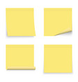 set of yellow stickers papers note paper vector image