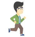 Smiling businessman running vector image vector image