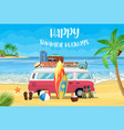 surfing weekend concept vector image vector image