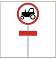 Tractor Sign on White vector image