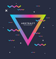 trendy abstract art geometric background with flat