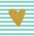 Trendy hearts color on striped background vector image