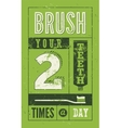 Typographic retro dental poster vector image