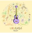 ukulele concert vector image vector image