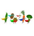 vegetable super heroes vector image vector image