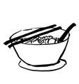 bowl of noodle doodle vector image