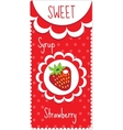 Sweet fruit labels for drinks syrup jam vector image