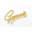 3d realistic golden shiny metallic summer vector image