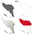 Aceh blank outline map set vector image vector image