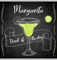 alcoholc cocktail margarita party summer poster vector image vector image