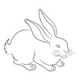 an easter bunny vector image vector image