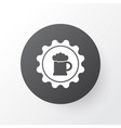 badge icon symbol premium quality isolated beer vector image