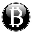 bitcoin sign on white vector image vector image