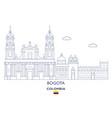 bogota city skyline vector image vector image