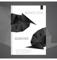 brochure cover design template with dark vector image vector image