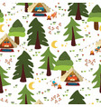 camping outdoor scene seamless background vector image