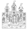 Castle coloring vector image