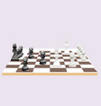 chess board with figures game in minimalist vector image