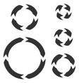 circle arrows black flat signs vector image vector image