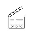 clapperboard - line design single isolated icon vector image
