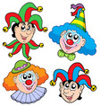 clowns head collection 2 vector image vector image