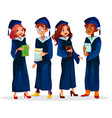 college university graduates vector image