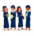 college university graduates vector image vector image