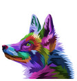 colorful fox on pop art style vector image
