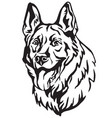 decorative portrait of dog shepherd 3 vector image vector image